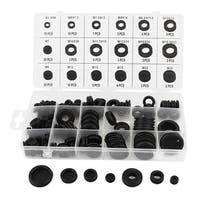 125 Pieces Rubber Grommet Assortment Wiring Electrical Coil Wire Gasket Kit