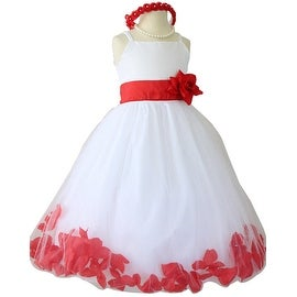 Flower Girl Dresses Rose Petal Wallao White (Baby - 14) Cherry Red