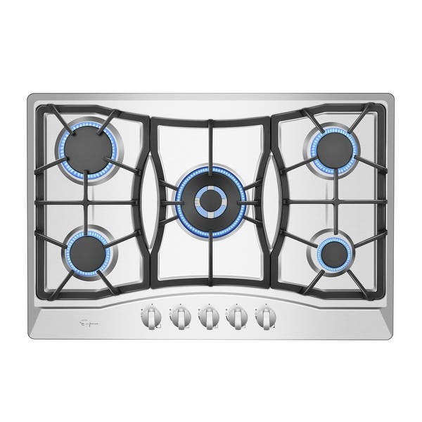 Empava 30 Built In Gas Stove Top Stainless Steel 5 Italy Sabaf Burners Lpg Natural Gas Cooktop Overstock 22469060