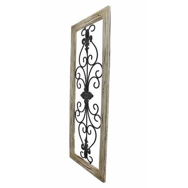 Frame Wrought Iron Fleur De Lis Wall