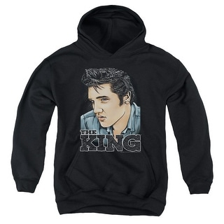 Elvis Presley Graphic King Big Boys Pullover Hoodie