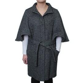 Hilary Radley Women's Tweed Fly Front Cape