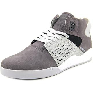 Supra Skytop III Men Round Toe Suede Gray Fashion Sneakers