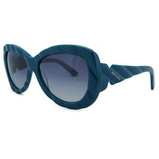 Diesel DL 0007/S 90W Teal Oversized Sunglasses