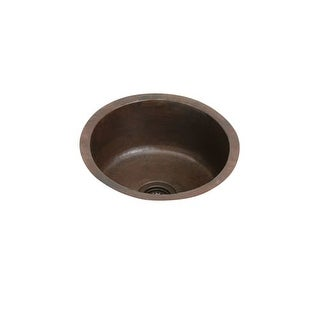 "Elkay ECU16FBACH The Mystic 18-3/8"" Single Basin 16-Gauge Hammered Copper Kitchen Sink for Undermount Installations with"