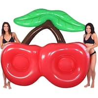 Inflatable 8 ft. Double Cherry Pool Float - Multi
