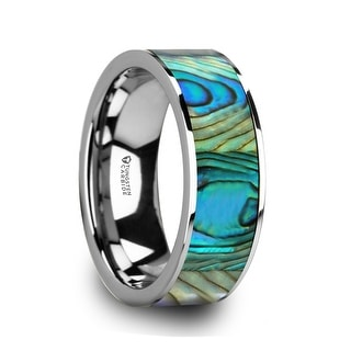 Thorsten LAURANT | Tungsten Rings for Men | Tungsten | Lifetime Guarantee | Wedding Ring Band with Mother of Pearl Inlay - 8mm