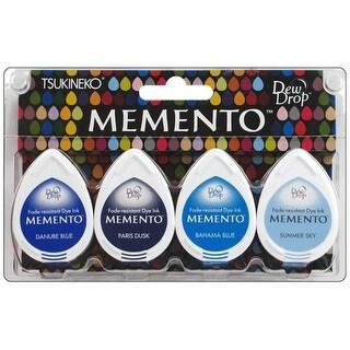Tsukineko Memento Ink Dew Drop Set/4 Ocean