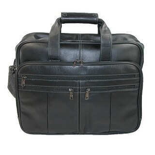 Scully Men's Soft Leather Basic Briefcase with Padded Laptop Sleeve