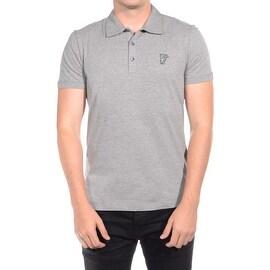 Versace Collection Men's Soft Cotton Polo Shirt Grey