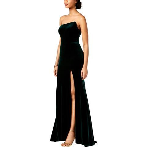 Aqua Womens Formal Dress Velvet Strapless - 8