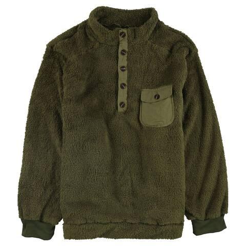 Incerun Mens Cuddle Sweatshirt, Green, XXXX-Large