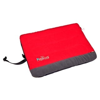 Helios Combat-Terrain Outdoor Cordura-Nyco Travel Folding Dog Bed, Red, Grey, Me