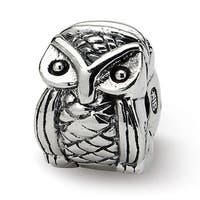 Sterling Silver Reflections Kids Owl Clip Bead (4mm Diameter Hole)