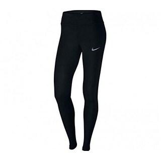 Nike Womens Pwr Epic Lx Tght Mesh, Black, L