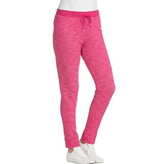 Hanes Women's French Terry Jogger - Size - 2XL - Color - Deep Raspberry Heather