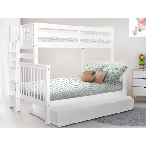 Taylor & Olive Trillium Twin over Full Bunk Bed & Twin Trundle