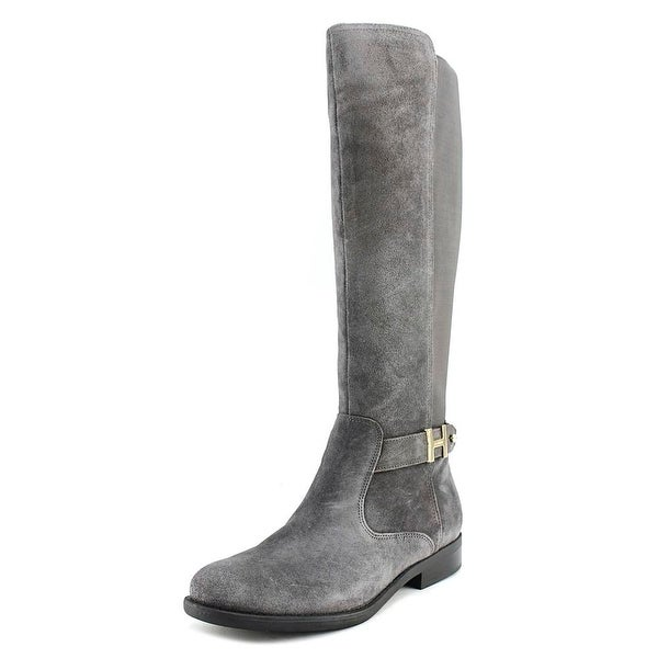 Tommy Hilfiger Suprem Women Round Toe Leather Gray Knee High Boot