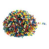 Unique Bargains 2600 Pcs Home/Office Metal Board Map Push Pins Thumbtacks w Plastic Head Assorted Color