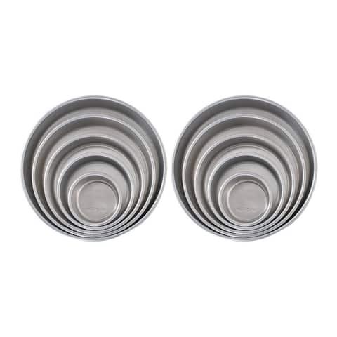Nordic Ware Naturals 5-Piece Aluminum Layer Cake Pan Set (Silver, 2Pk)