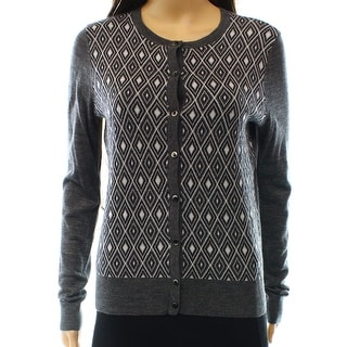 Halogen NEW Gray Heather Women's Size Small S Diamond Cardigan Sweater