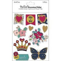 Bella! Girl 3D Stickers-