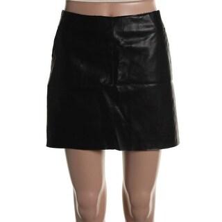 Zara Womens Faux Leather Lined Mini Skirt - XL