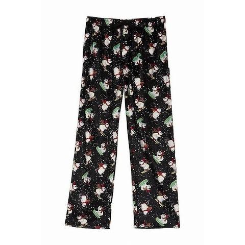 Hawke & Co. Mens Sleepwear Black Size Small S Snowman Lounge Pants