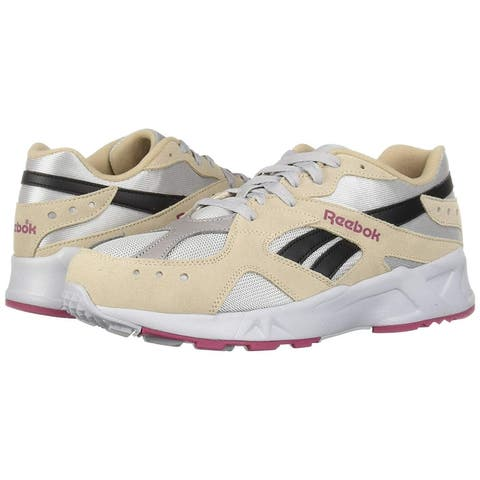 Reebok Mens DV4078 Leather Low Top Lace Up Running Sneaker