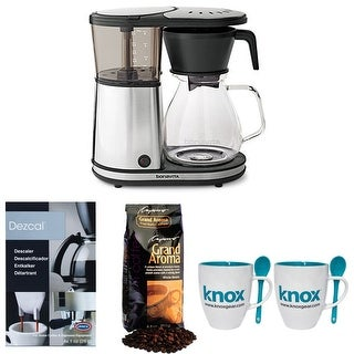 Bonavita BV1901GW 8-cup Coffee Brewer + Grand Aroma Coffee, Knox Mugs + Descaler