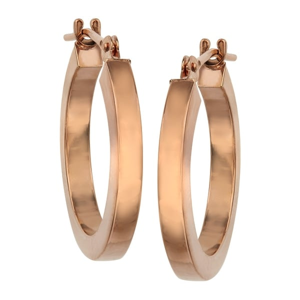 Eternity Gold Flat Hoop Earrings In 14k Rose Pink Free Shipping Today 13884993