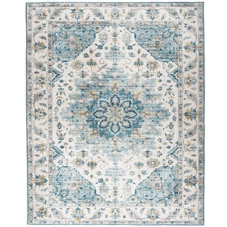 Link to ReaLife Machine Washable Rug -Distressed Vintage Medallion Similar Items in Rugs