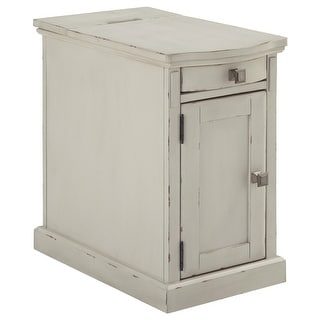 Ashley Furniture T127-642 White Laflorn Chair Side End Table