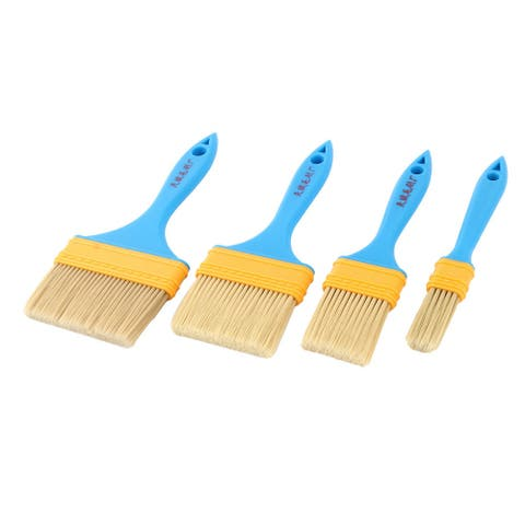 Household Furniture Wall Painting Paint Tool Supplies Brushes 4 in 1 - Beige,Blue,Yellow
