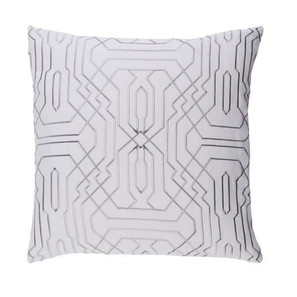 "20"" Smoke Gray and Cream Chevron Decorative Throw Pillow"