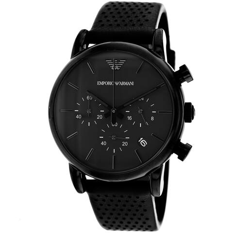 Armani Men's Classic Black Dial Watch