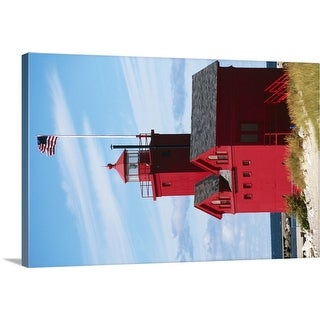 """""""Red lighthouse"""" Canvas Wall Art"""