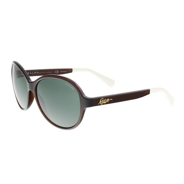 6f4a1e6cb4a Shop Ralph Lauren RA5192 102671 Havana Oval Sunglasses - 58-14-135 ...