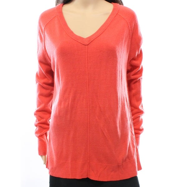 7c5fd82a72ceaa Shop Sweet Romeo NEW Orange Women s Size Large L Raglan V-Neck Sweater -  Free Shipping On Orders Over  45 - Overstock.com - 16808542