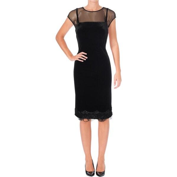 ae779ed8f198e Shop SLNY Womens Slip Dress Velvet Cocktail - On Sale - Free Shipping On Orders  Over $45 - Overstock - 25897515