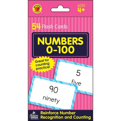 Brighter child numbers 0-100 flash cards 734086