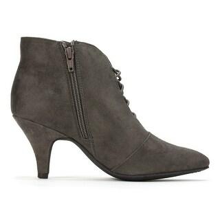 Rialto Womens MAXINE Fabric Almond Toe Ankle Fashion Boots