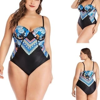 Womens  One Piece Swimsuits Plus Size Bathing Suits Bandeau Swimwear