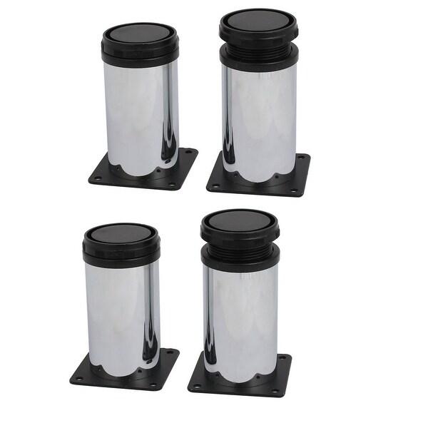 50mm Dia 100mm Height Metal Adjustable Cabinet Soft Leg Feet 4pcs