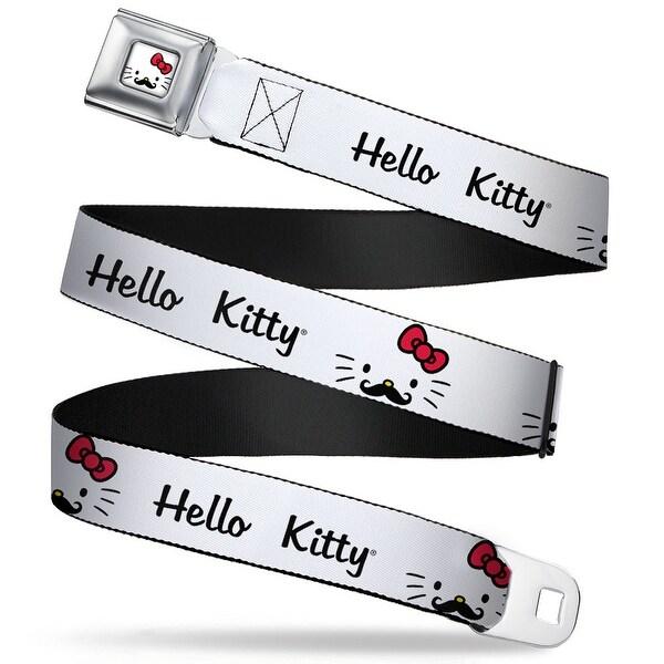 Hello Kitty Face W Mustache Full Color Hello Kitty Script Face W Mustache Seatbelt Belt