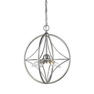 Z-Lite 16 in. Cortez 4 Light Brushed Nickel Pendant Ceiling Light