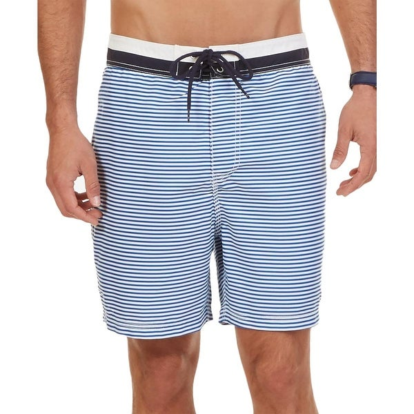 06bb583710 Shop Nautica Mens Quick-Dry Striped Swim Trunks - Free Shipping On Orders  Over $45 - Overstock - 17879519