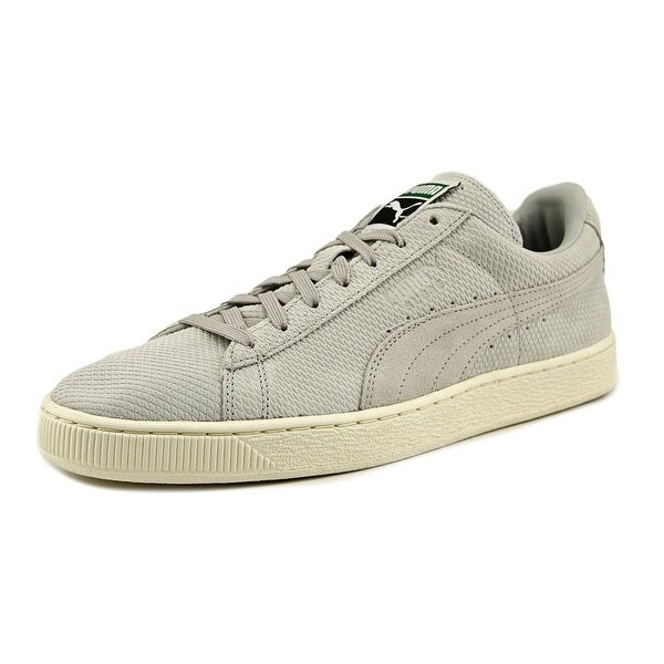 Puma Suede Classic + Mod Heritage Men Glacier Gray-Whisper White Sneakers Shoes