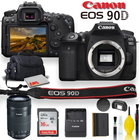 Canon EOS 90D DSLR Camera With Canon EF-S 55-250mm f/4-5.6 IS STM
