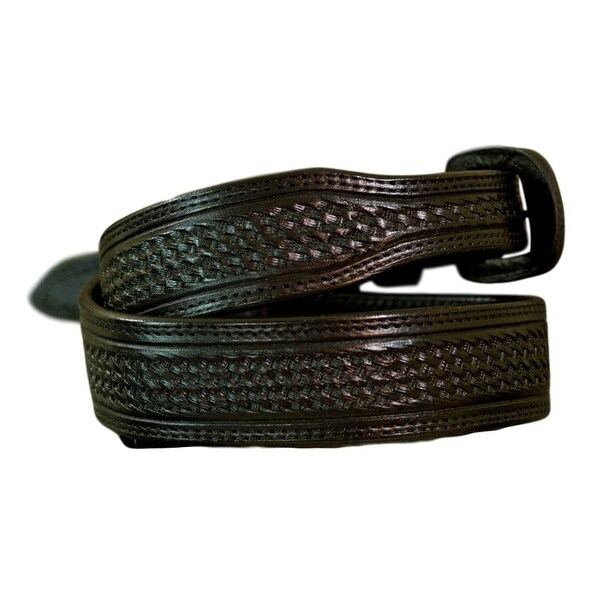 Vogt Silversmiths Western Belts Mens Basket Weave Black